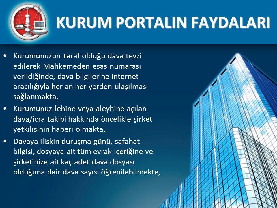 KURUM PORTALIN FAYDALARI