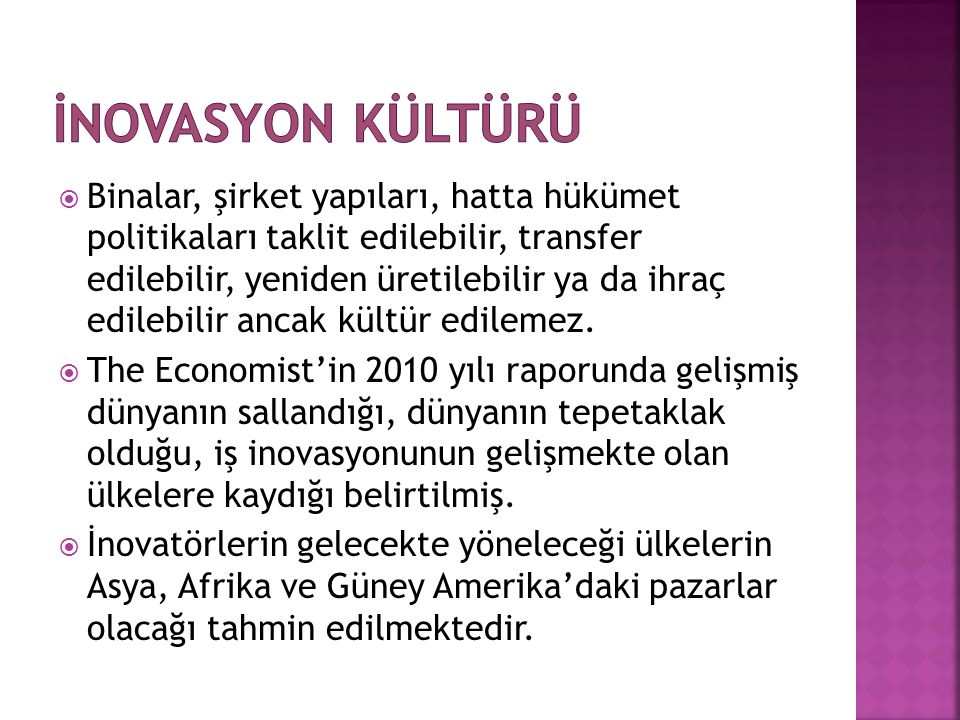 İNOVASYON KÜLTÜRÜ