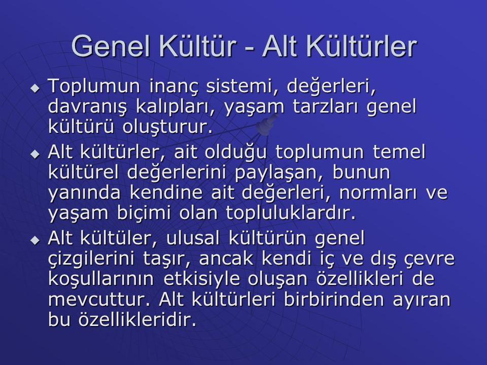 Genel Kültür - Alt Kültürler