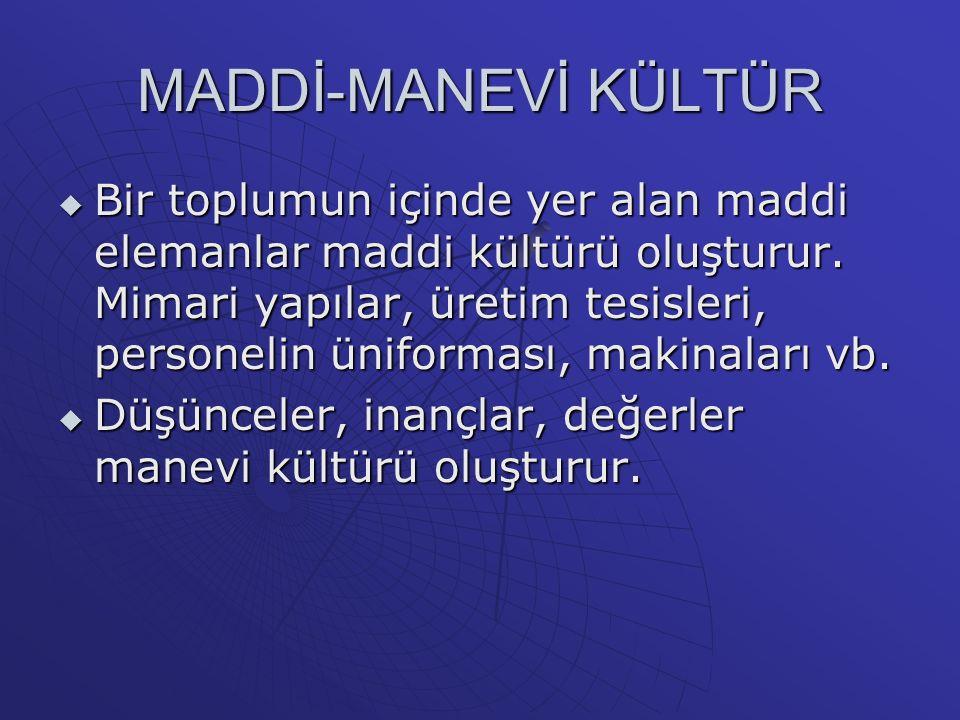 MADDİ-MANEVİ KÜLTÜR