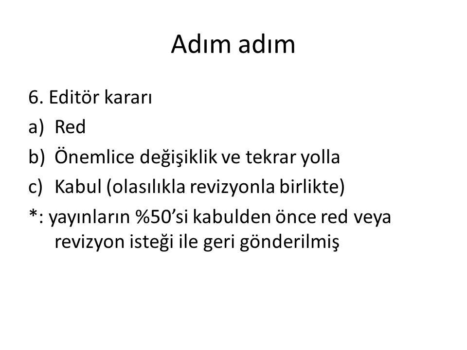 Adım adım 6. Editör kararı Red Önemlice değişiklik ve tekrar yolla