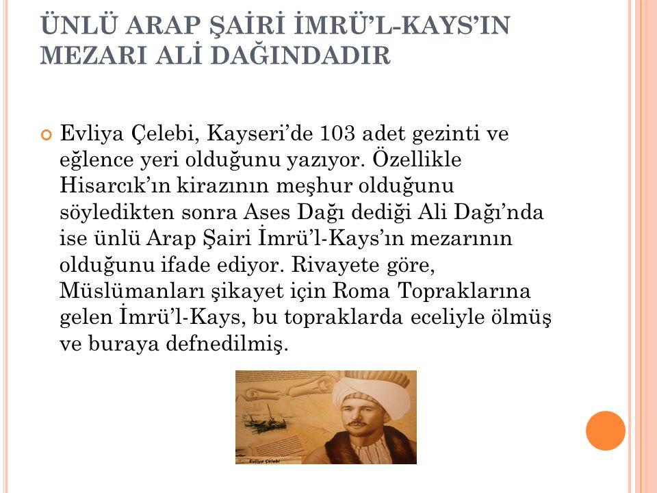 ÜNLÜ ARAP ŞAİRİ İMRÜ'L-KAYS'IN MEZARI ALİ DAĞINDADIR