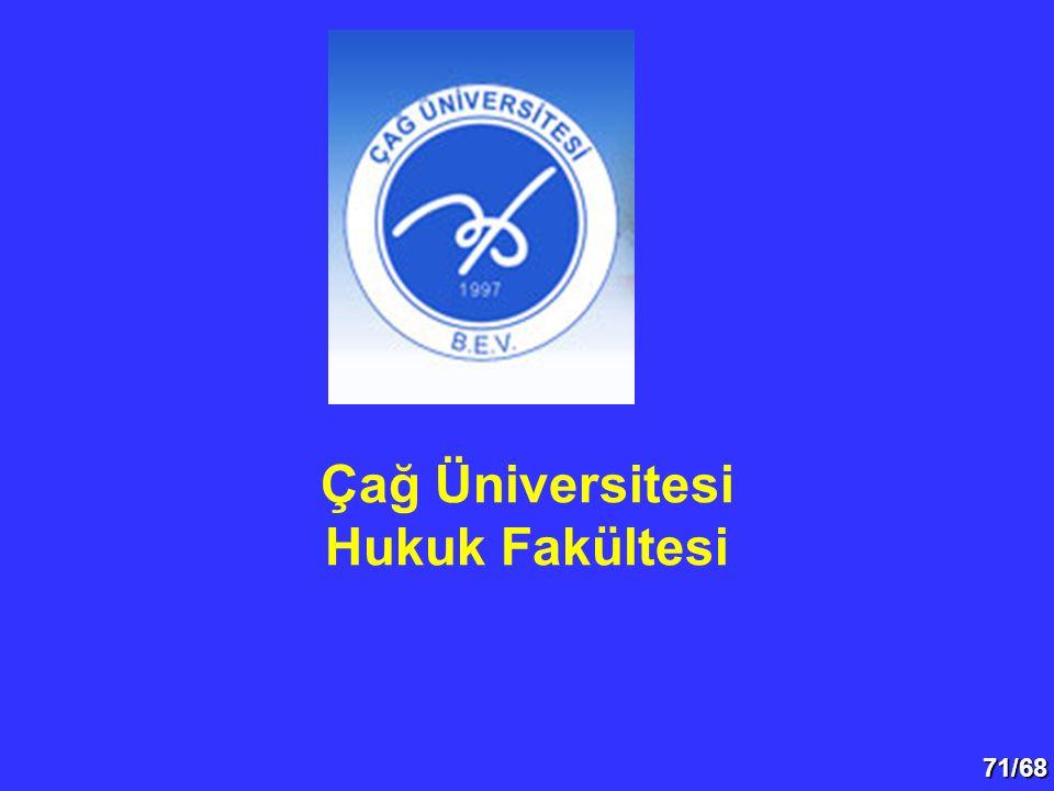 Çağ Üniversitesi Hukuk Fakültesi