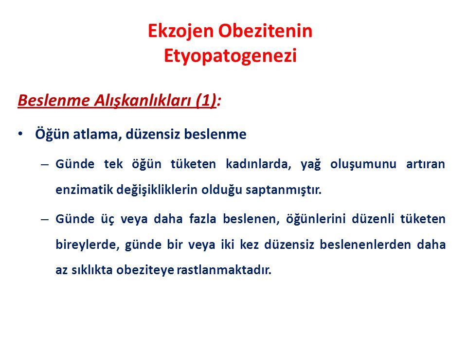 Ekzojen Obezitenin Etyopatogenezi