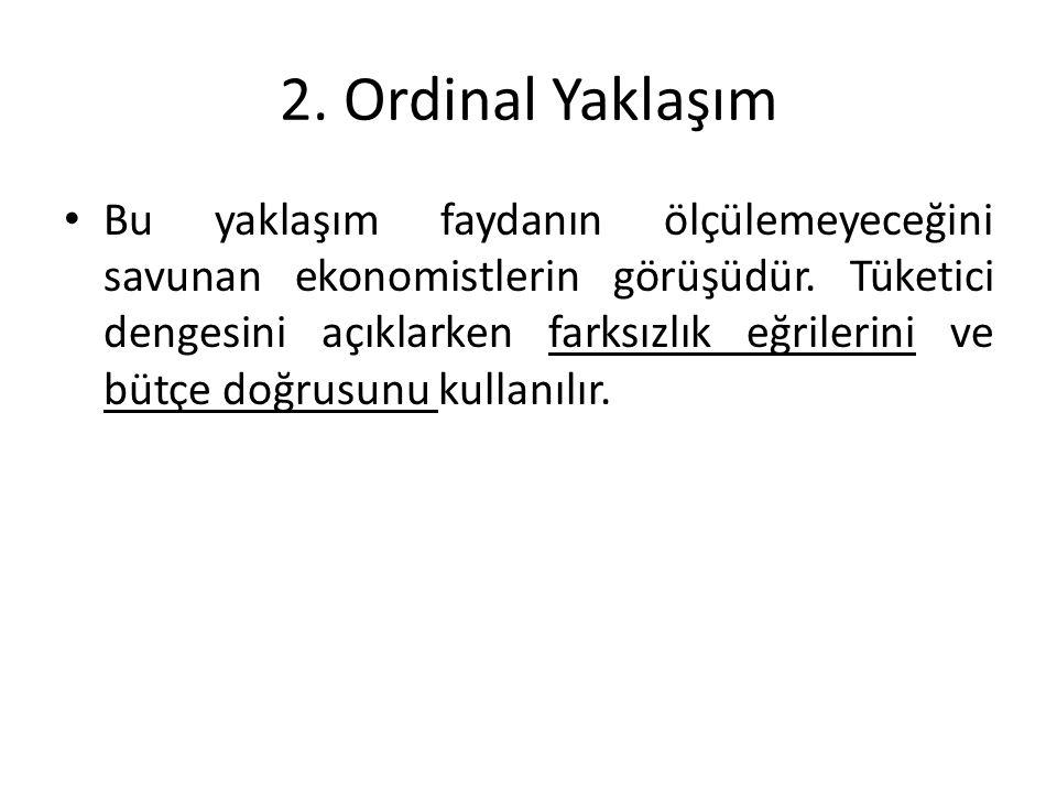 2. Ordinal Yaklaşım