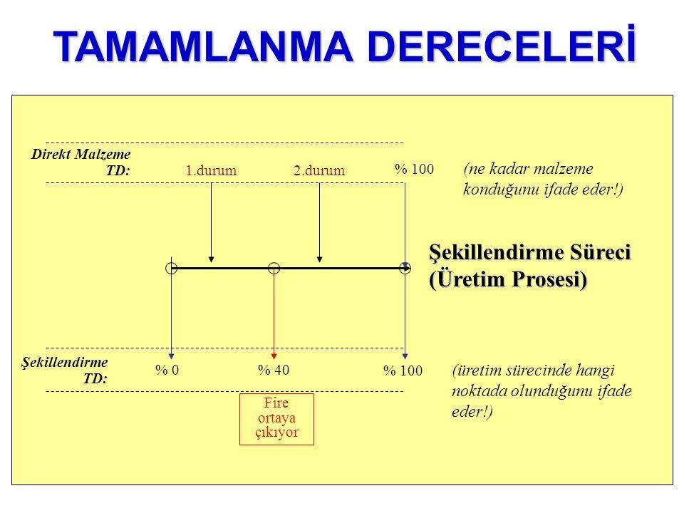 TAMAMLANMA DERECELERİ