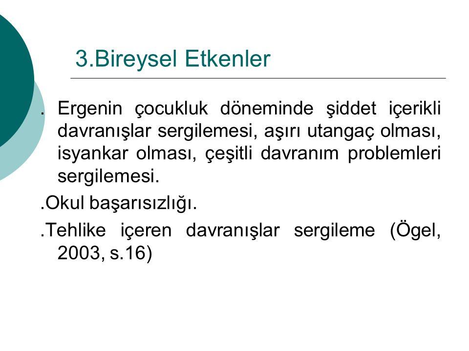 3.Bireysel Etkenler