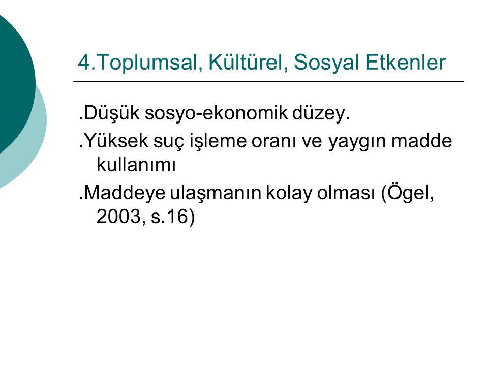 4.Toplumsal, Kültürel, Sosyal Etkenler