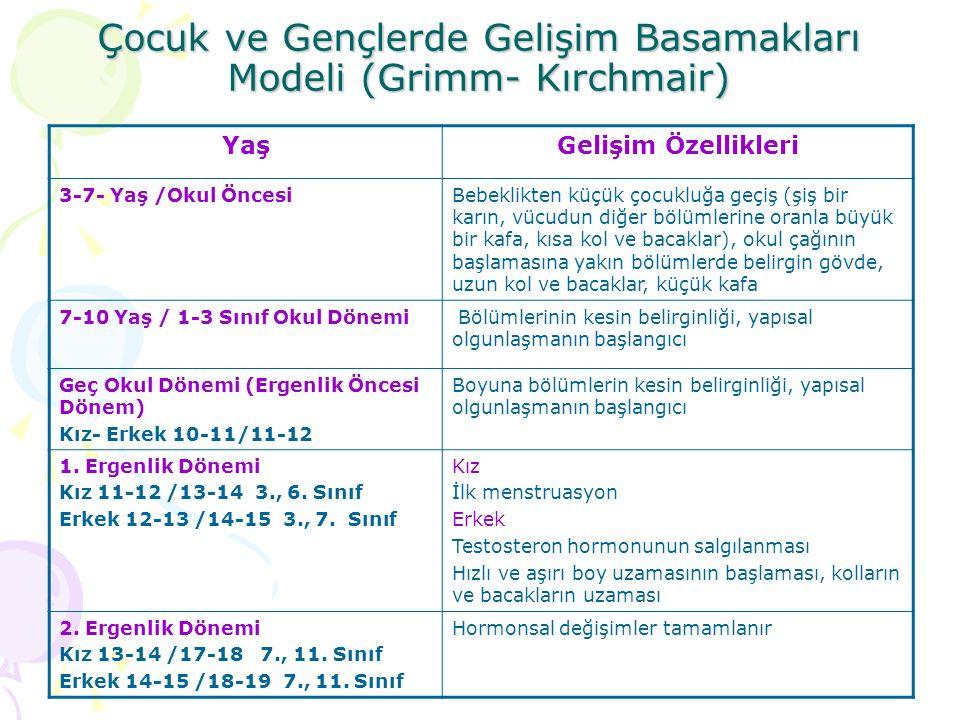 Çocuk ve Gençlerde Gelişim Basamakları Modeli (Grimm- Kırchmair)