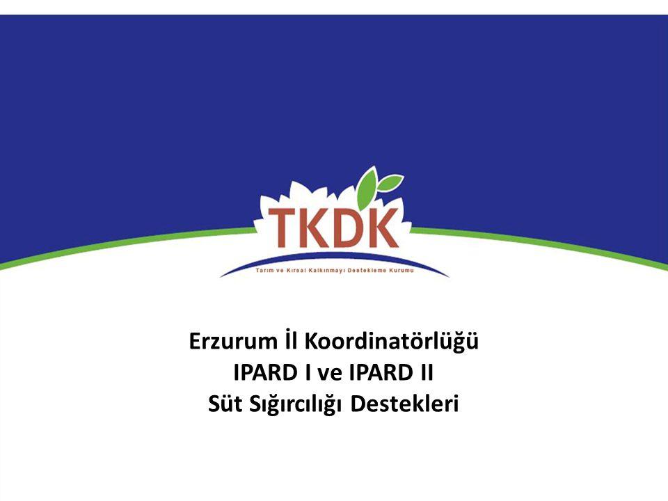 Erzurum İl Koordinatörlüğü Süt Sığırcılığı Destekleri