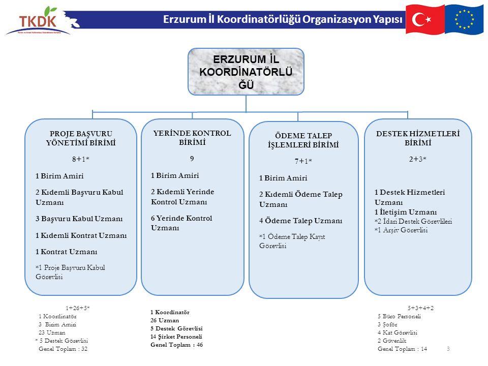 Erzurum İl Koordinatörlüğü Organizasyon Yapısı