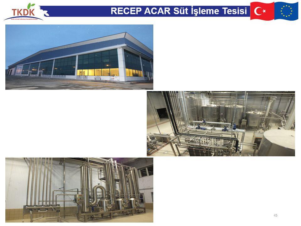 RECEP ACAR Süt İşleme Tesisi