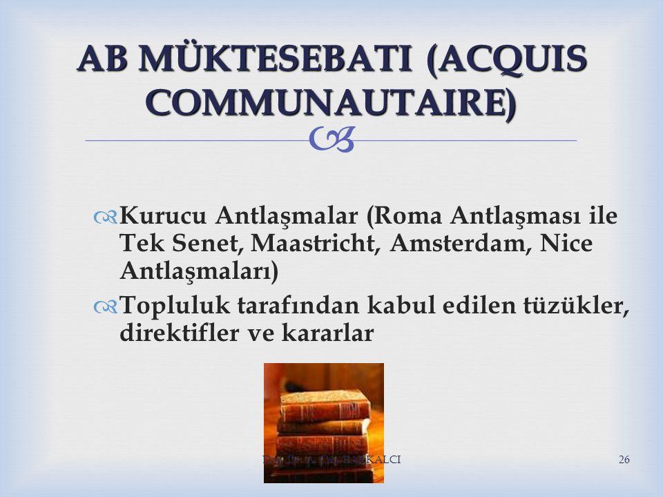 AB MÜKTESEBATI (ACQUIS COMMUNAUTAIRE)