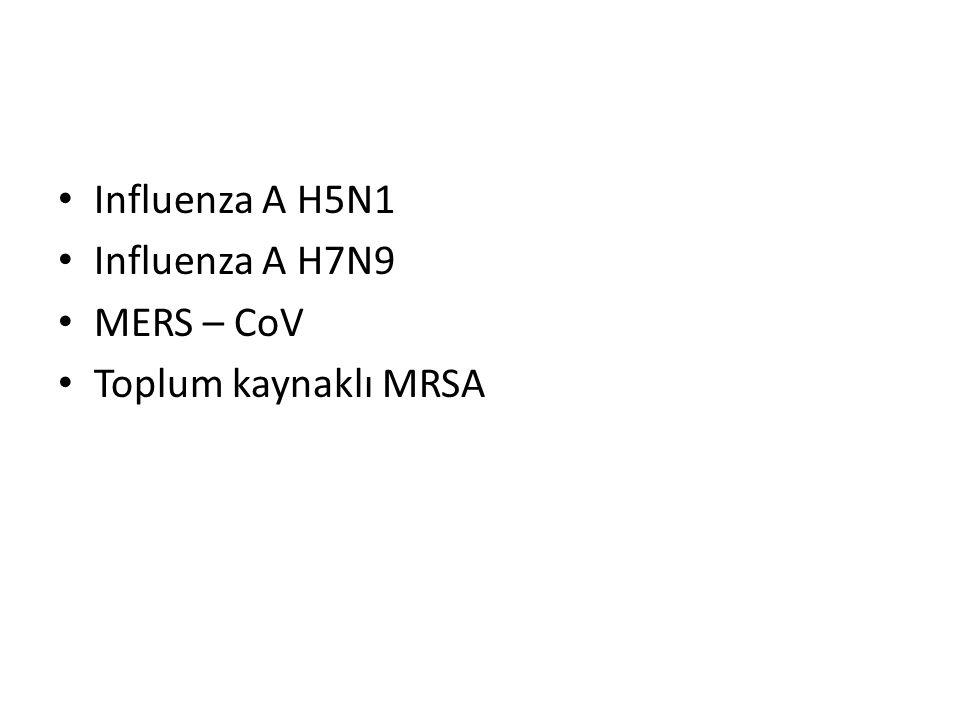 Influenza A H5N1 Influenza A H7N9 MERS – CoV Toplum kaynaklı MRSA