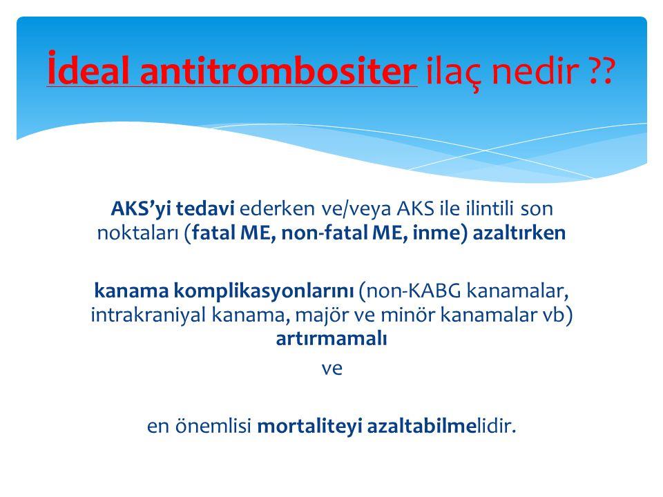 İdeal antitrombositer ilaç nedir