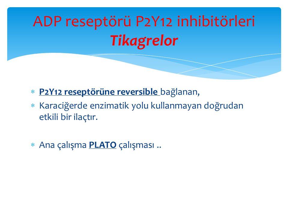 ADP reseptörü P2Y12 inhibitörleri Tikagrelor
