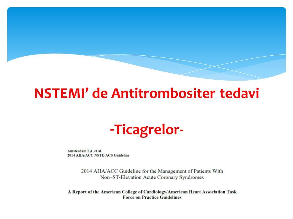 NSTEMI' de Antitrombositer tedavi
