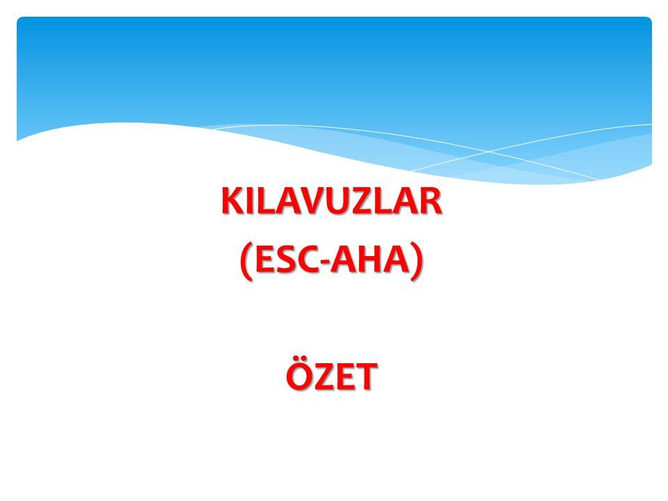 KILAVUZLAR (ESC-AHA) ÖZET
