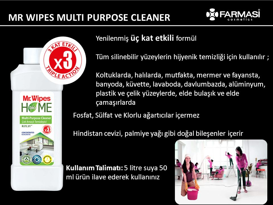 MR WIPES MULTI PURPOSE CLEANER