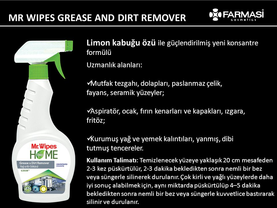 MR WIPES GREASE AND DIRT REMOVER
