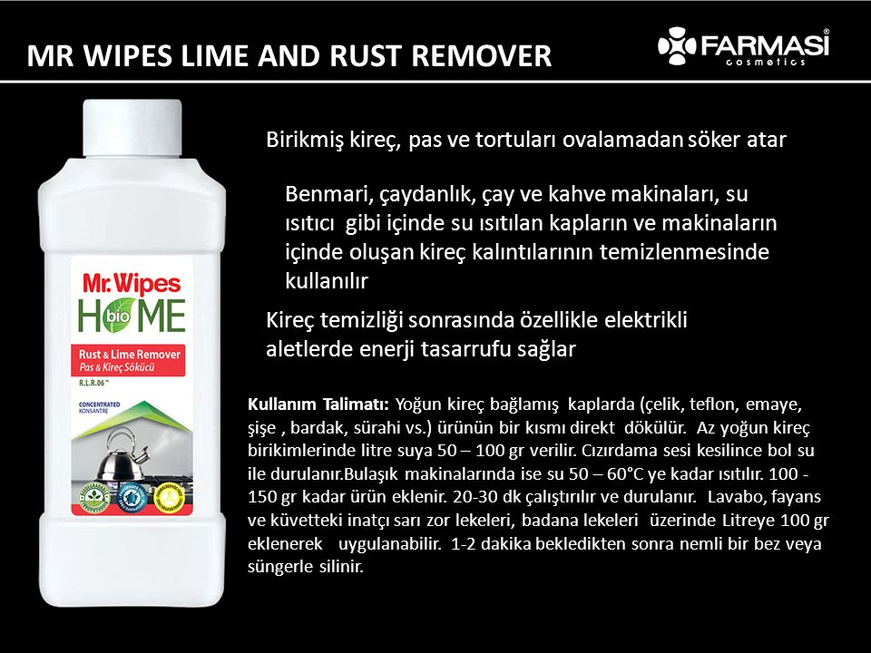 MR WIPES LIME AND RUST REMOVER