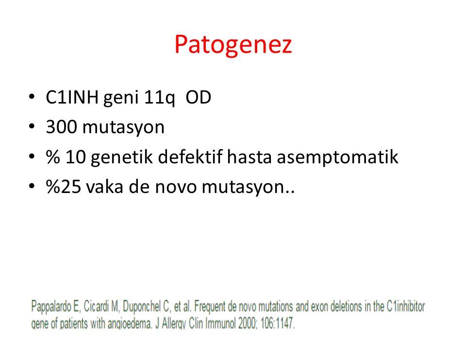 Patogenez C1INH geni 11q OD 300 mutasyon