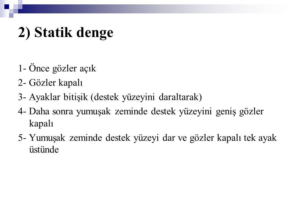 2) Statik denge