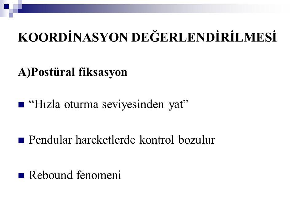 KOORDİNASYON DEĞERLENDİRİLMESİ