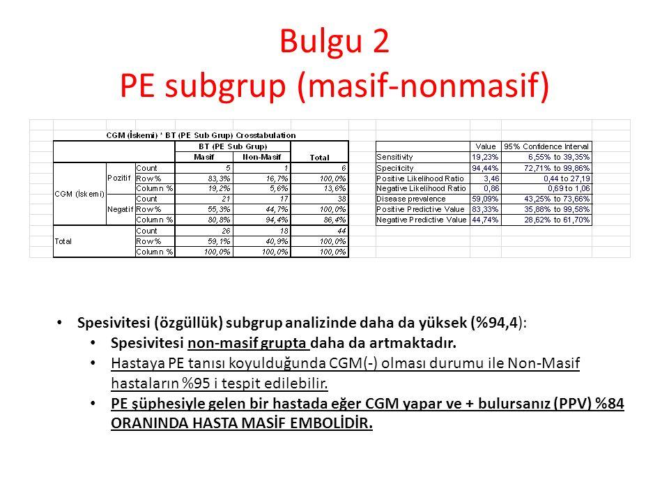 Bulgu 2 PE subgrup (masif-nonmasif)