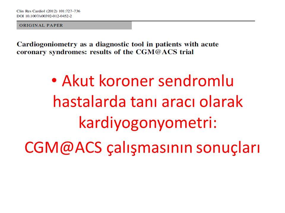 Akut koroner sendromlu hastalarda tanı aracı olarak kardiyogonyometri: