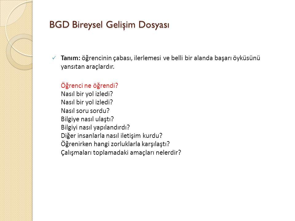 BGD Bireysel Gelişim Dosyası