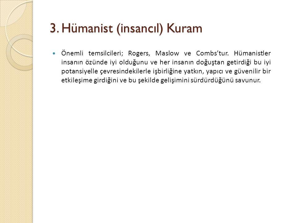 3. Hümanist (insancıl) Kuram