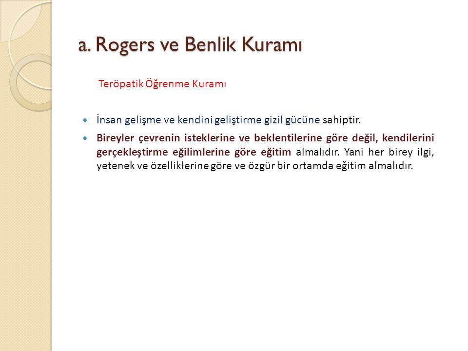 a. Rogers ve Benlik Kuramı