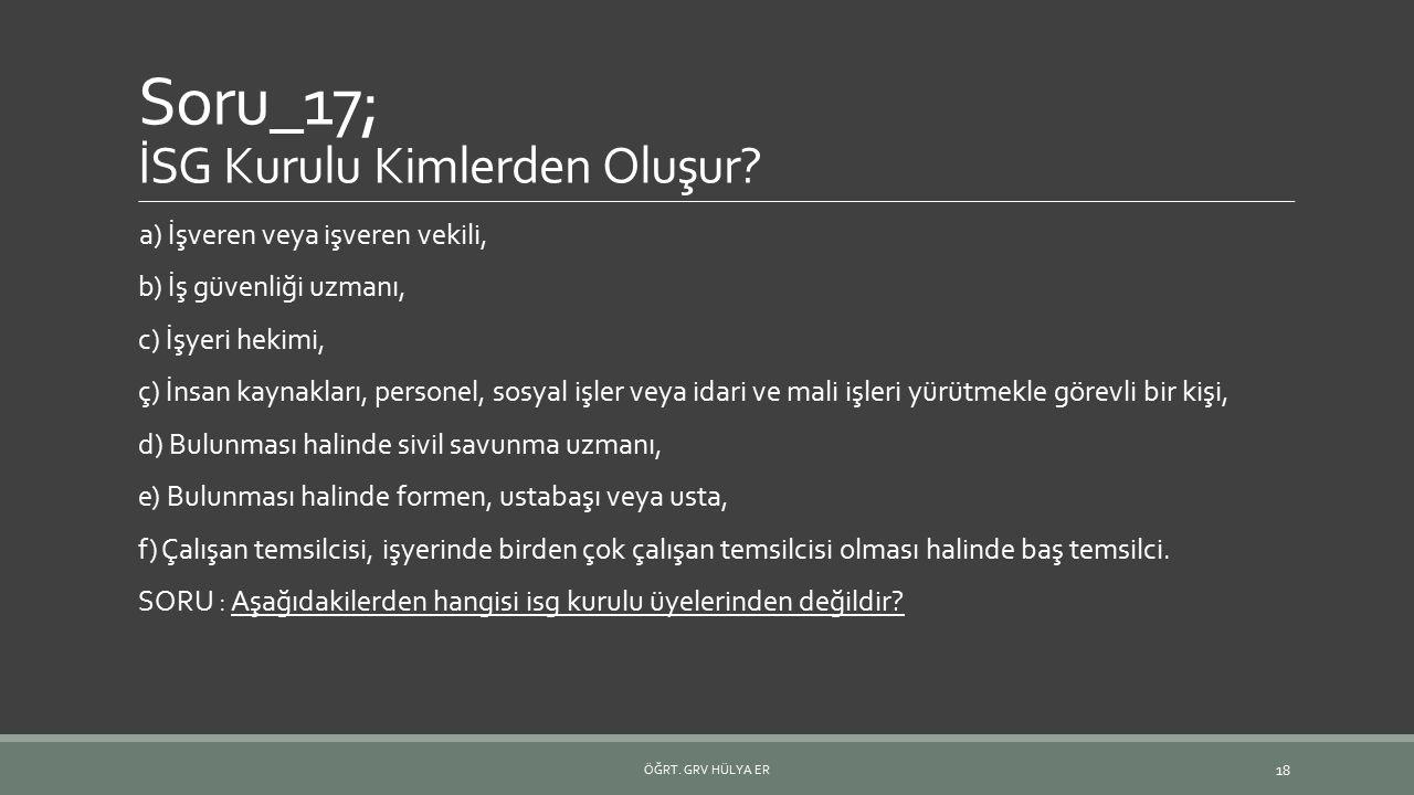 Soru_17; İSG Kurulu Kimlerden Oluşur