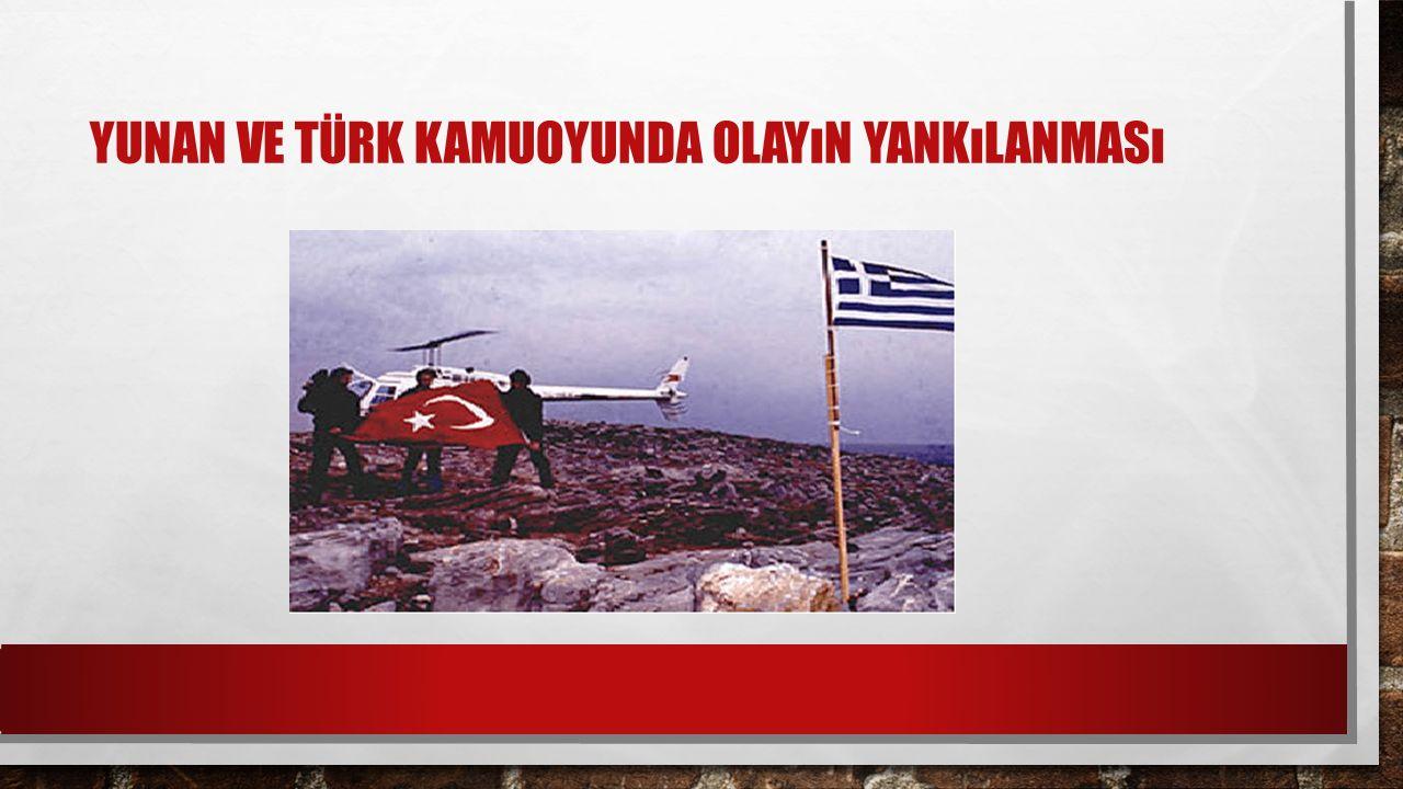Yunan ve Türk Kamuoyunda Olayın Yankılanması