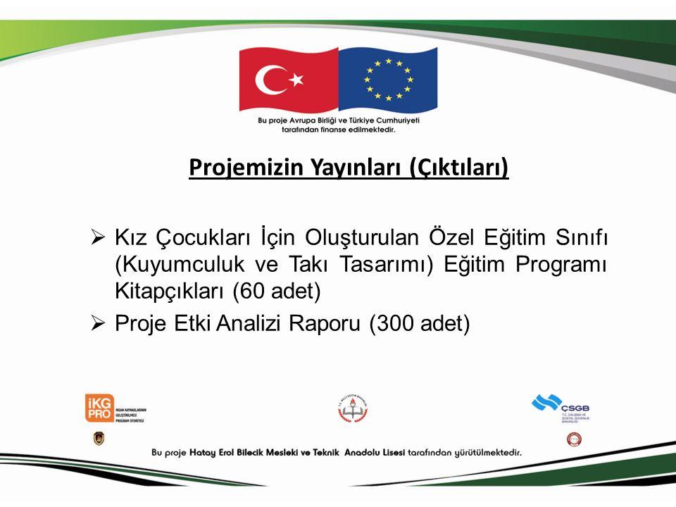 Projemizin Yayınları (Çıktıları)