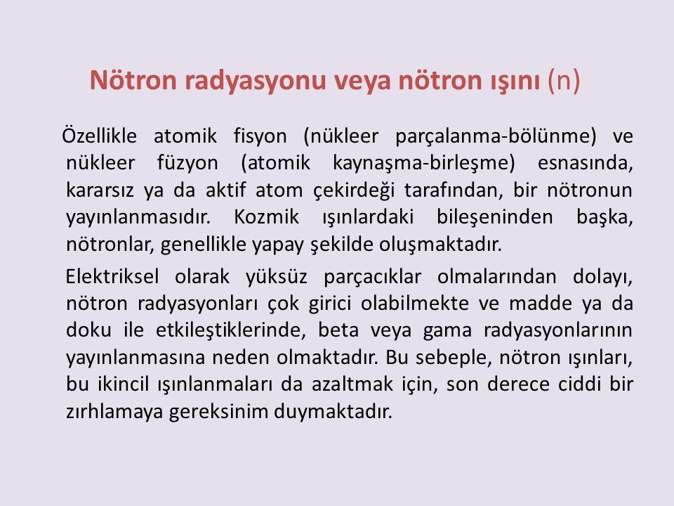Nötron radyasyonu veya nötron ışını (n)