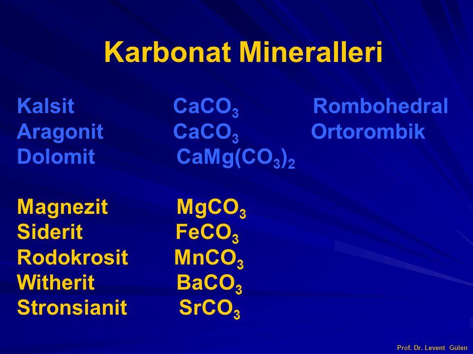 Karbonat Mineralleri Kalsit CaCO3 Rombohedral