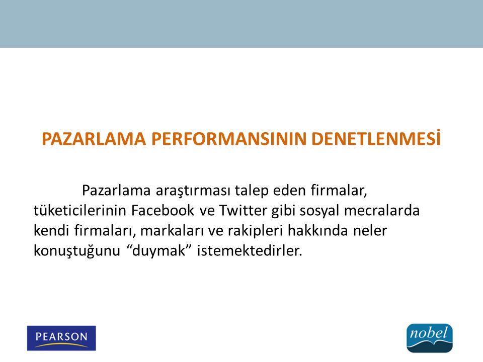 PAZARLAMA PERFORMANSININ DENETLENMESİ