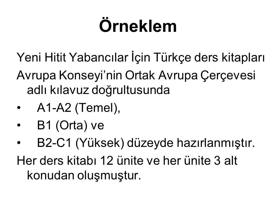 Örneklem Yeni Hitit Yabancılar İçin Türkçe ders kitapları