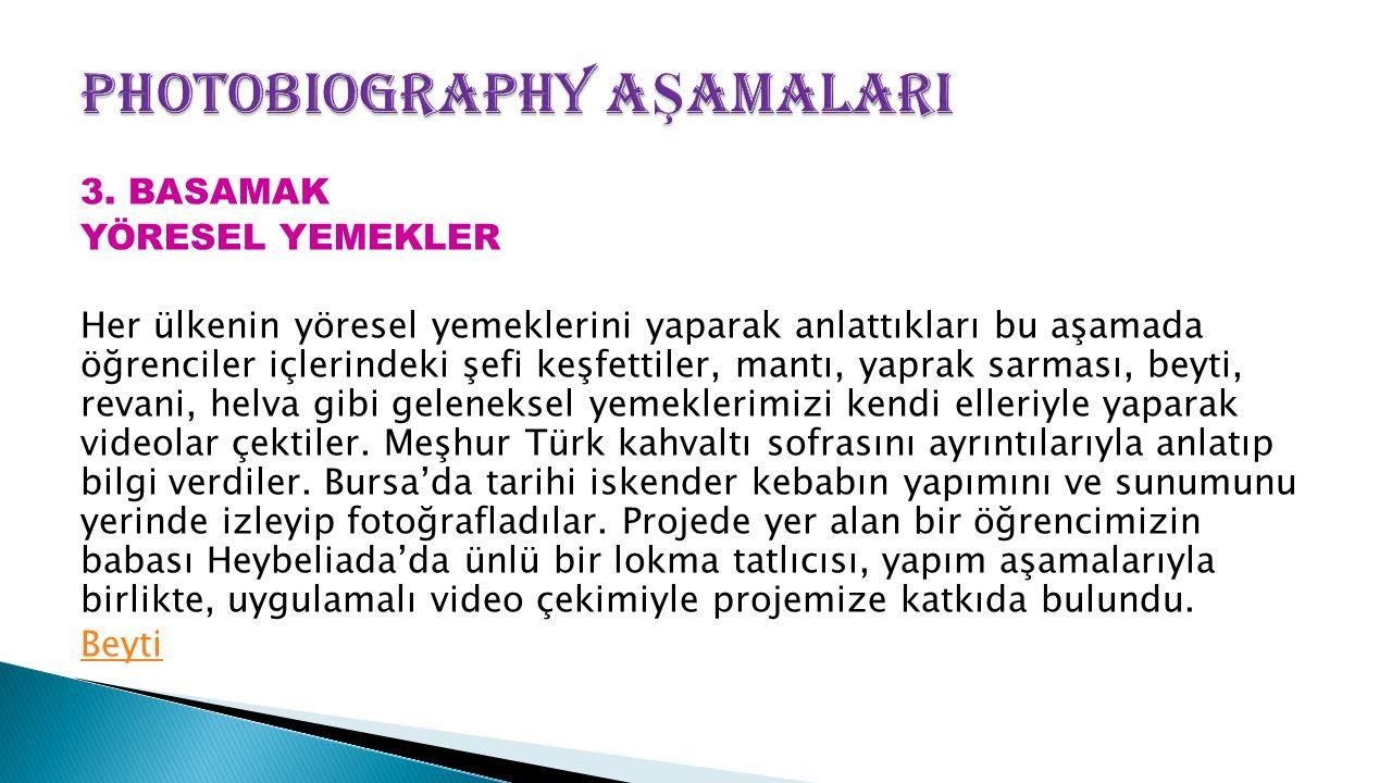 PhotoBiography AŞAMALARI