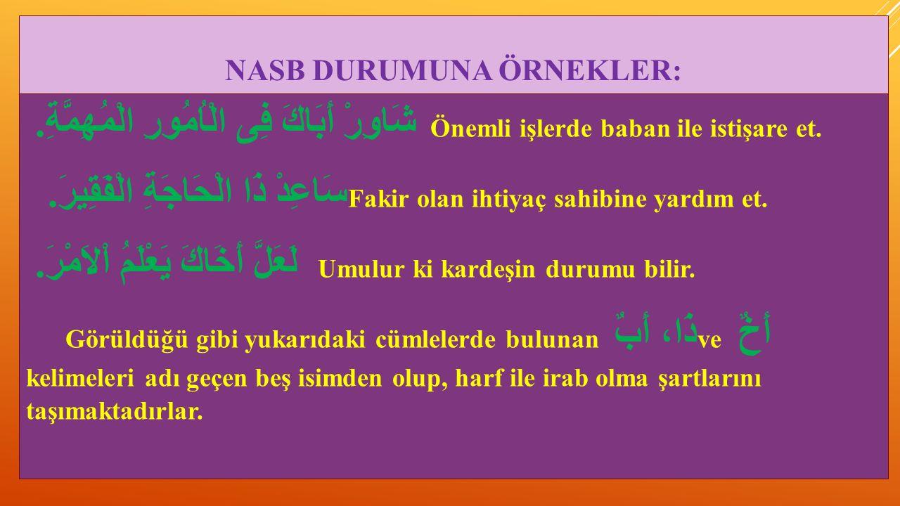 NASB DURUMUNA ÖRNEKLER:
