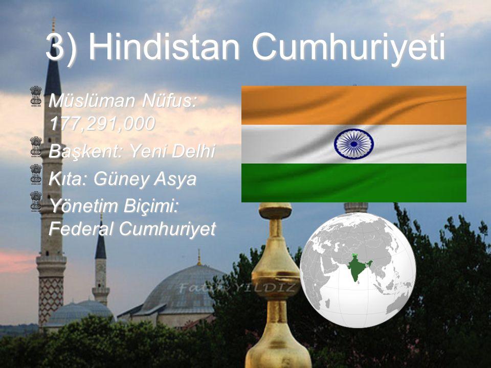 3) Hindistan Cumhuriyeti