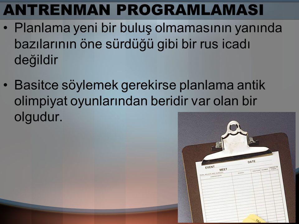 ANTRENMAN PROGRAMLAMASI