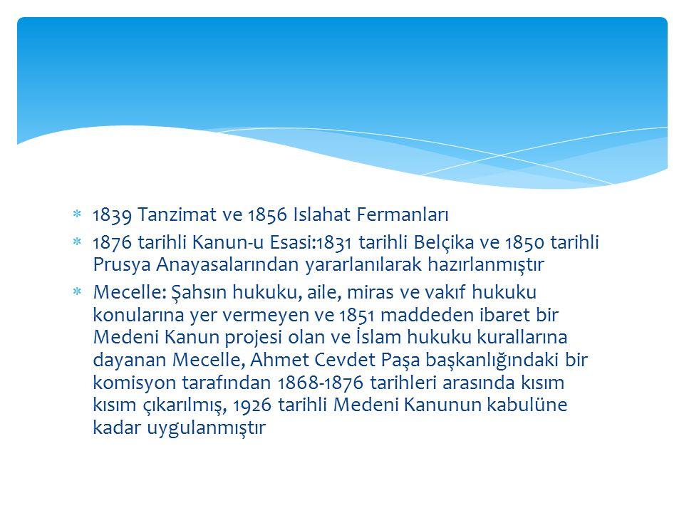 1839 Tanzimat ve 1856 Islahat Fermanları