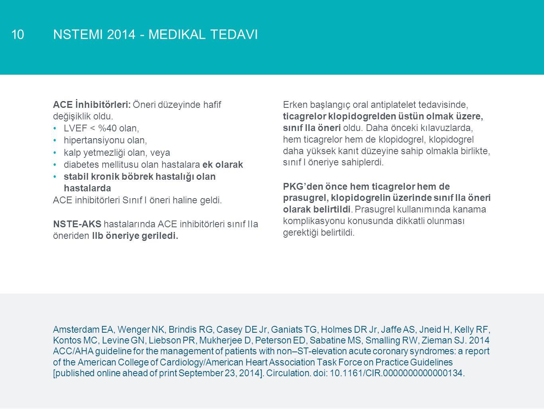 NSTEMI 2014 - medikal tedavi