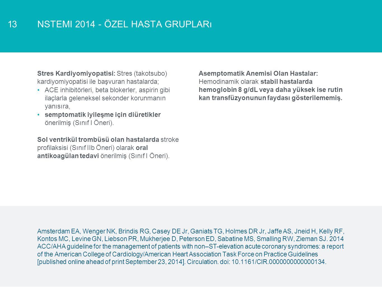 NSTEMI 2014 - özel hasta grupları