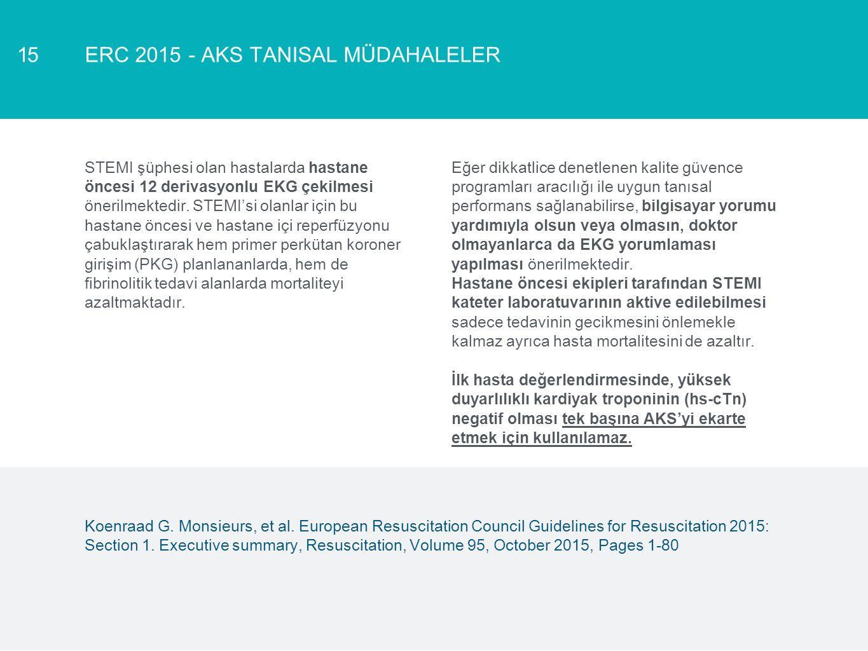 ERC 2015 - AKS TANISAL MÜDAHALELER