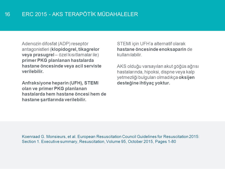 ERC 2015 - AKS TERAPÖTİK MÜDAHALELER