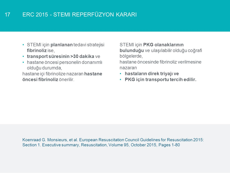 ERC 2015 - STEMI REPERFÜZYON KARARI